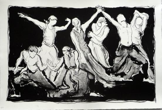 Dancers (Lithograph)