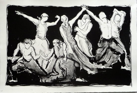 Dancers (Lithograph)
